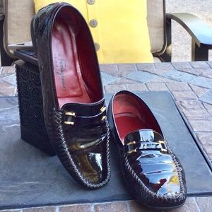 SALVADOR FERRAGAMO🇮🇹Patent Leather Driving Shoes